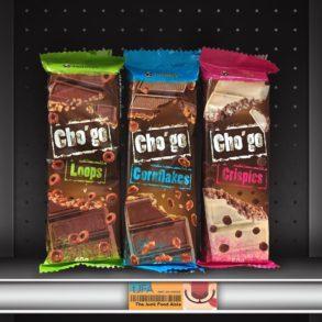 Cho'go Loops, Cornflakes, and Crispies Chocolate Bars