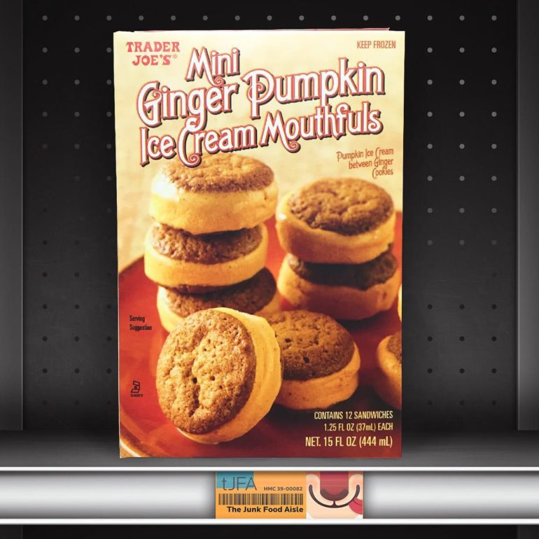 Trader Joe's Mini Ginger Pumpkin Ice Cream Mouthfuls