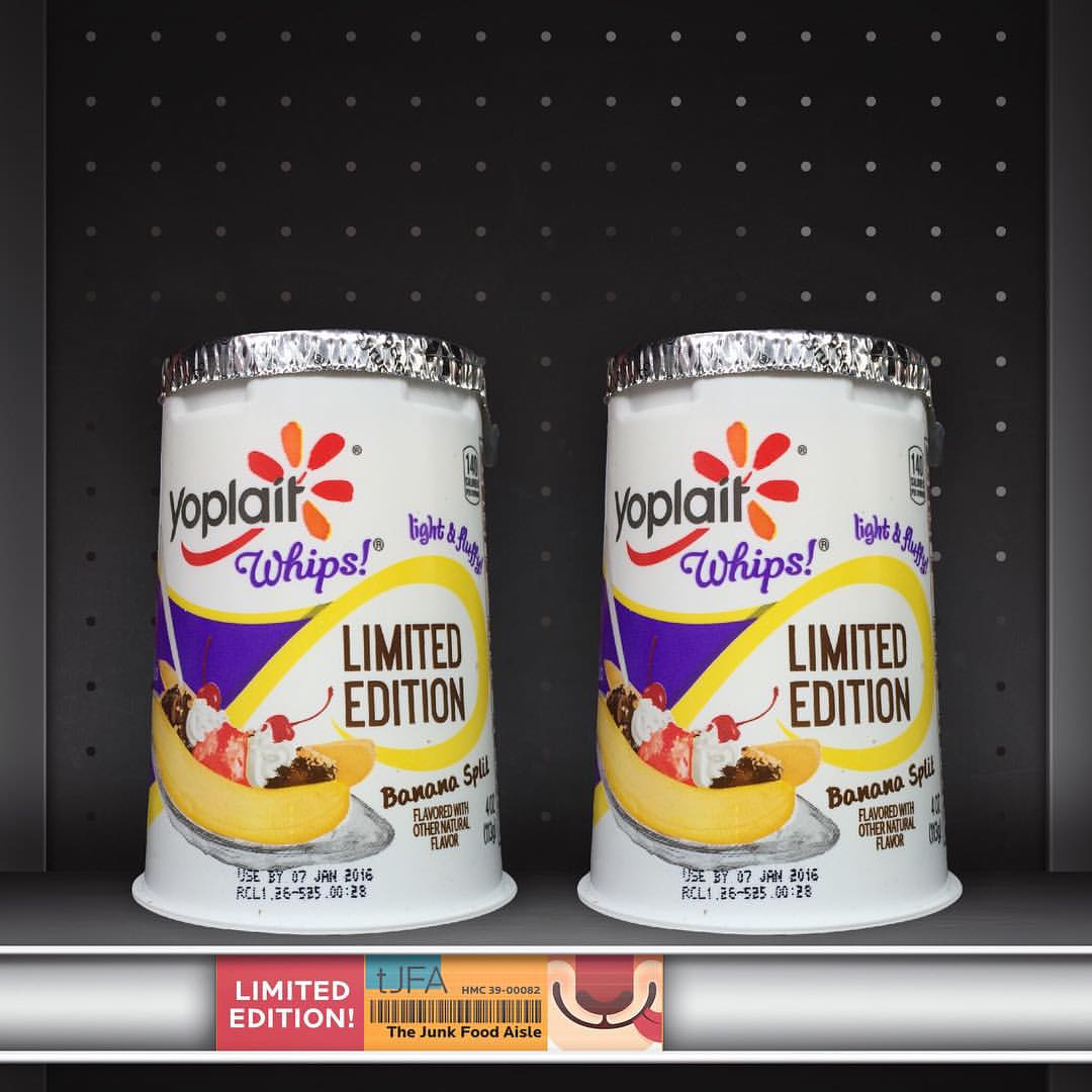 Yoplait Whips Banana Split The Junk Food Aisle