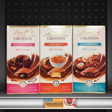 Lindt Creation Molten Lava Cake, Crème Brûlée, and Hazelnut Torte Chocolate Bars