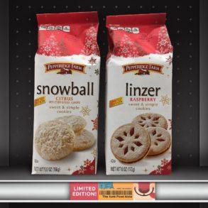 Pepperidge Farm Snowball Citrus and Linzer Raspberry Cookies