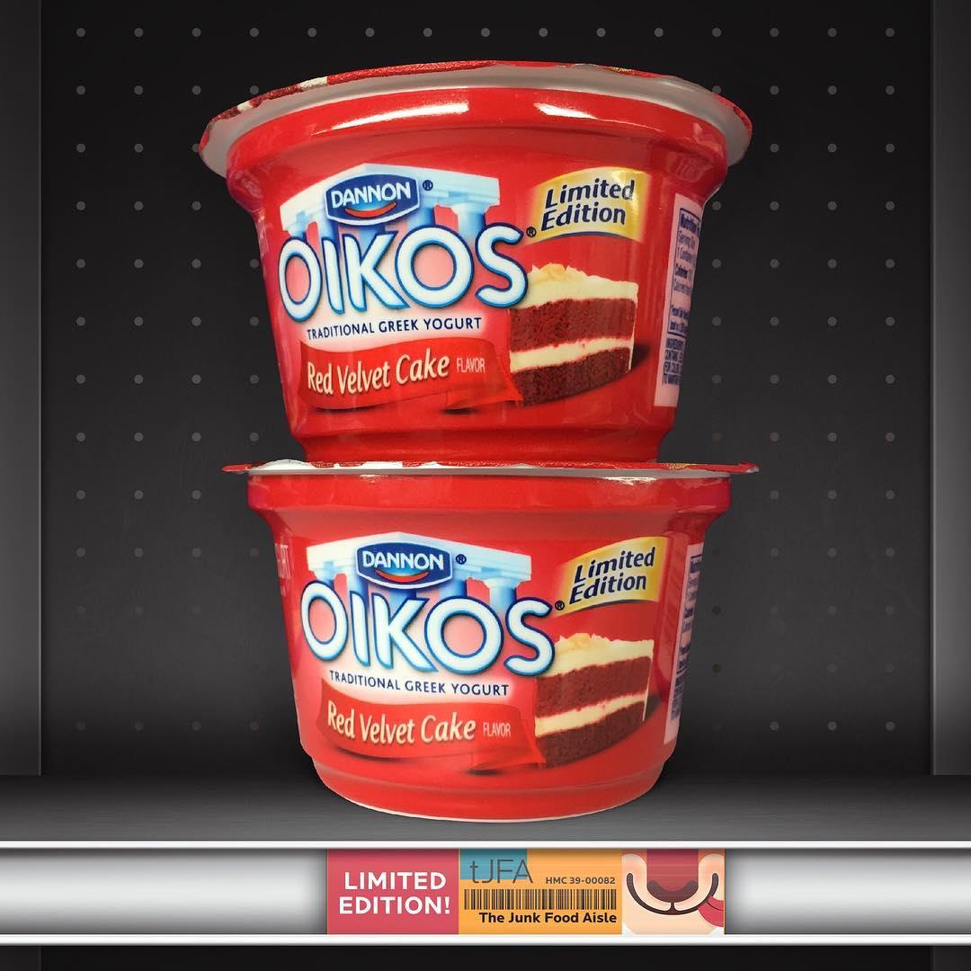 Dannon Oikos Red Velvet Cake Greek Yogurt - The Junk Food ...