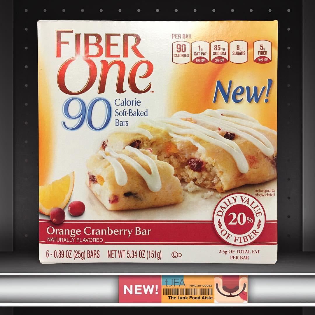 fiber one orange cranberry bar the junk food aisle. Black Bedroom Furniture Sets. Home Design Ideas