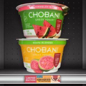 Chobani Watermelon and Guava Blended Greek Yogurts