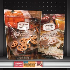 Creative Snacks Co. Pumpkin Spice & Apple Cider Yogurt Pretzels
