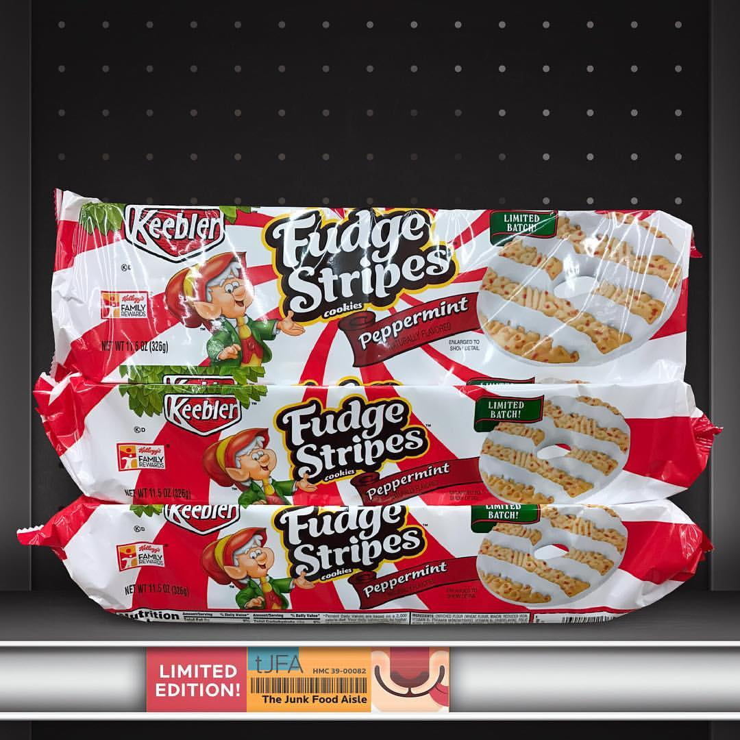 Keebler Peppermint Fudge Stripes Cookies