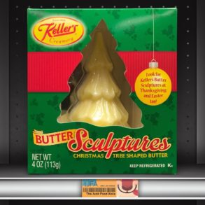 Keller's Christmas Tree Shaped Butter Sculptures