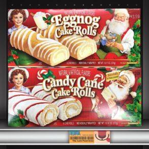 Little Debbie Eggnog & Candy Cane Cake Rolls