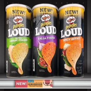 Pringles Loud Super Cheesy Italian, Salsa Fiesta & Spicy Queso