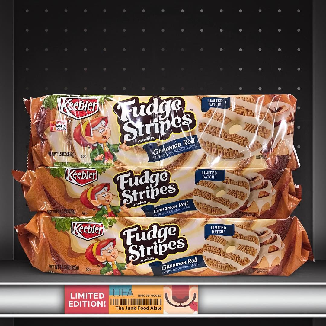 Keebler Cinnamon Roll Fudge Stripes Cookies