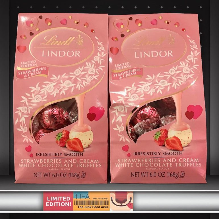 Lindt Lindor Strawberries and Cream White Chocolate Truffles