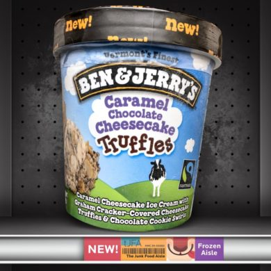 Ben & Jerry's Caramel Chocolate Cheesecake Truffles Ice Cream