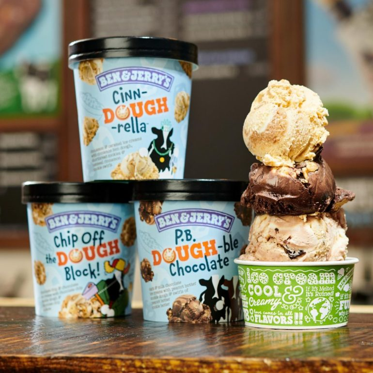 Ben & Jerry's Introduces 3 New Cookie Dough Flavors