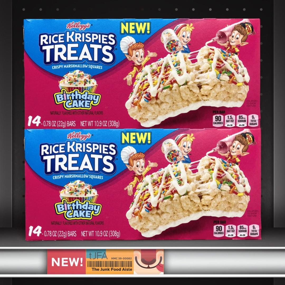 Birthday Cake Rice Krispies Treats The Junk Food Aisle