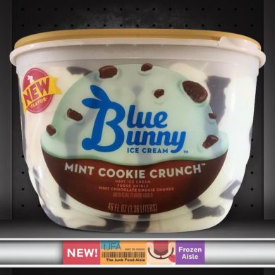 Blue Bunny Mint Cookie Crunch Ice Cream