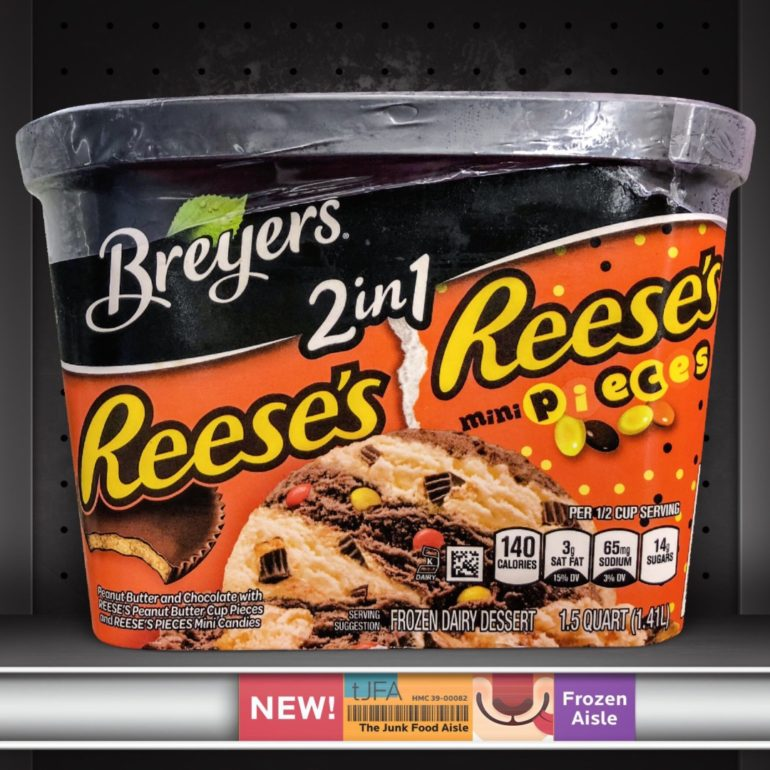 Breyers 2in1 Reese's and Reese's Pieces