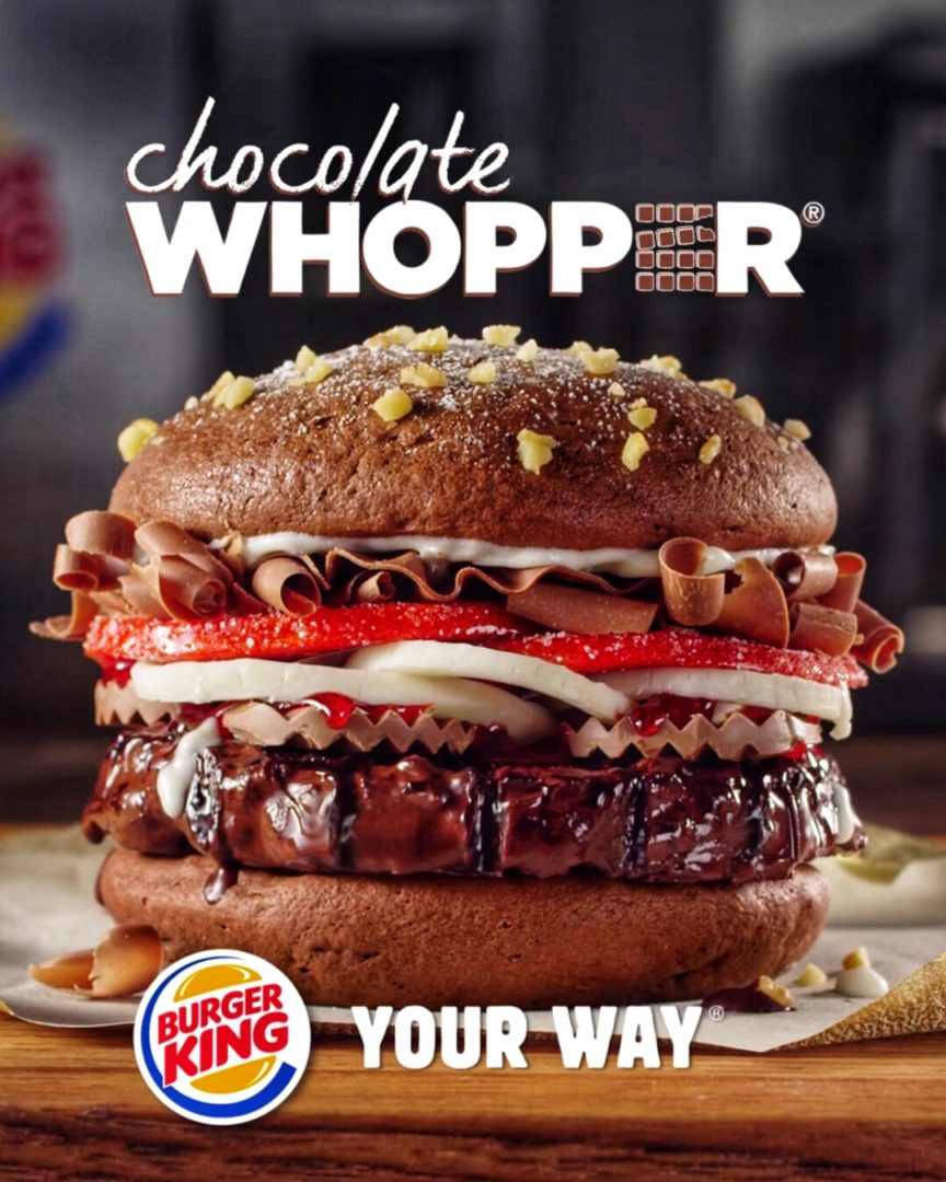 Burger King Chocolate Whopper The Junk Food Aisle