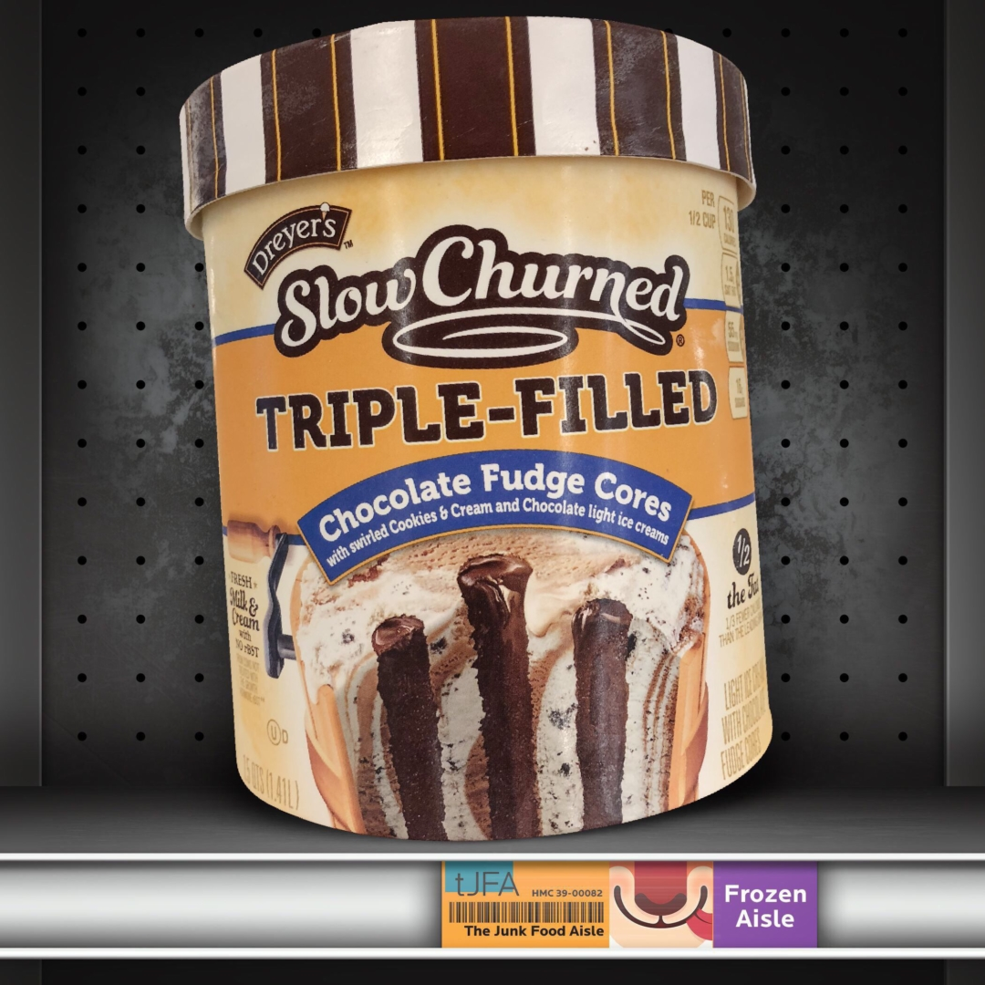Dreyer's Slow Churned Triple Filled: Chocolate Fudge Cores