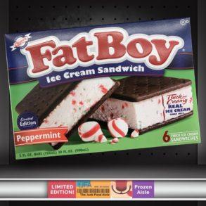 FatBoy Peppermint Ice Cream Sandwiches
