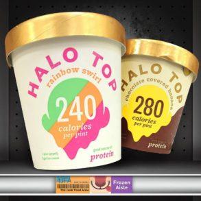 Halo Top Rainbow Swirl and Chocolate Covered Banana