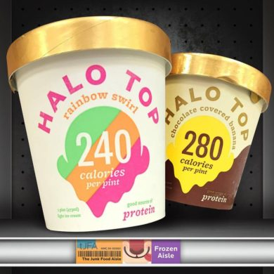 Halo Top Rainbow Swirl and Chocolate Covered Banana