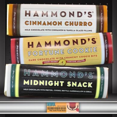 Hammond's Cinnamon Churro, Fortune Cookie, and Midnight Snack Chocolate Bars