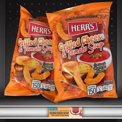 Herr's Grilled Cheese & Tomato Soup Flavored Cheese Curls!