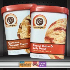 JC's Scoops PB&J Donut and Cinnamon Chocolate Churro Ice Cream