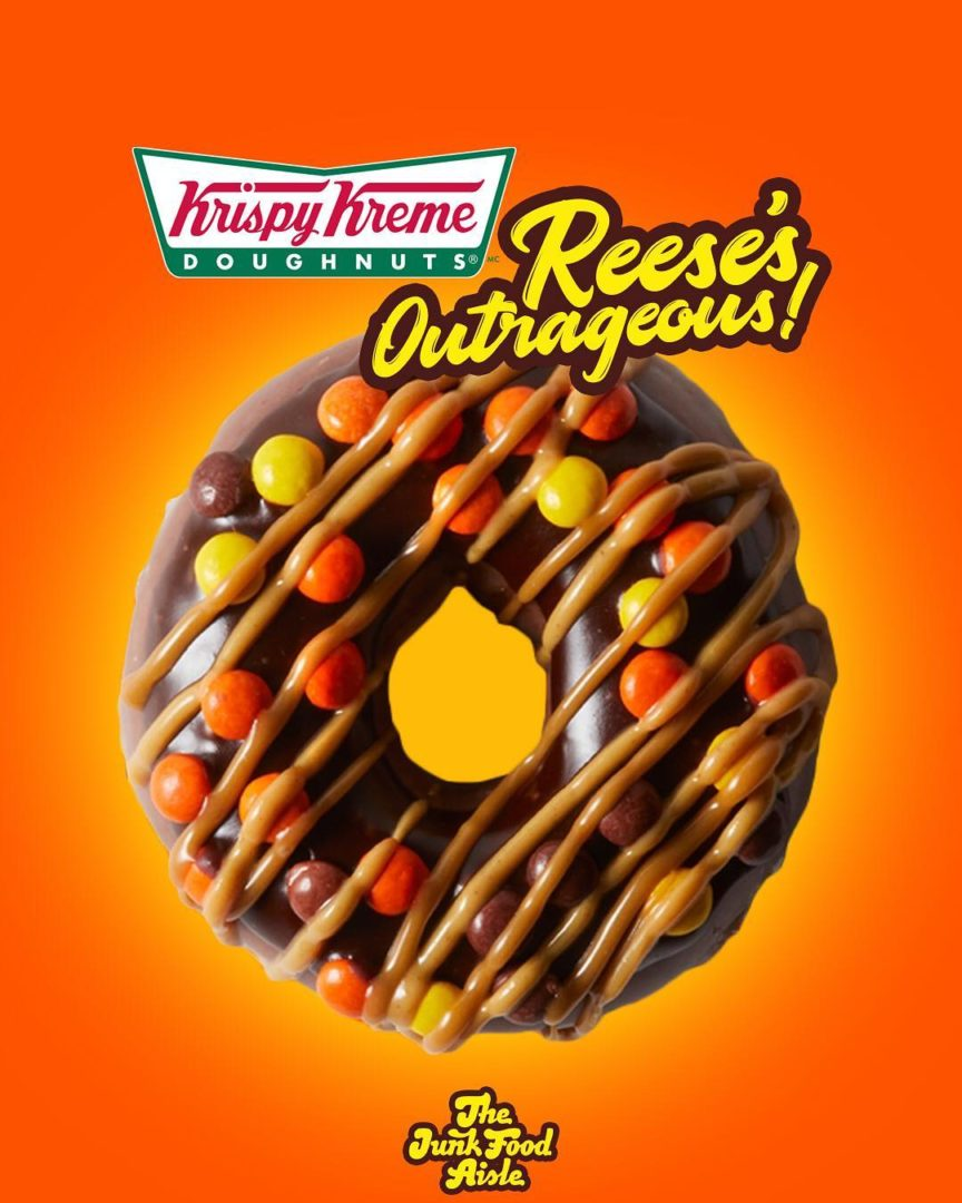 Krispy Kreme Reese's Outrageous Doughnut Are Available Now