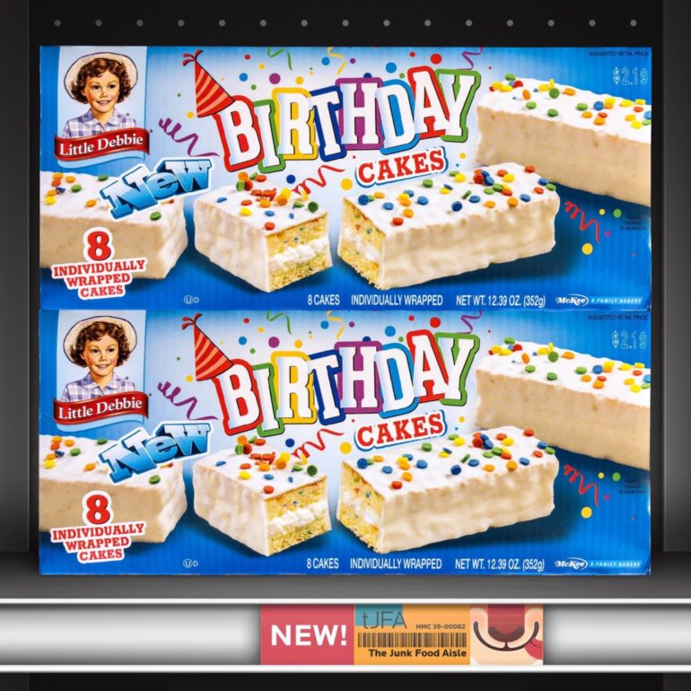 Prime Little Debbie Birthday Cakes The Junk Food Aisle Funny Birthday Cards Online Eattedamsfinfo