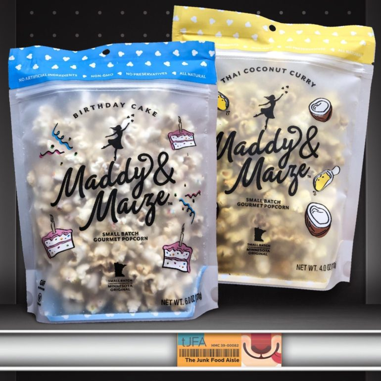 Maddy & Maize Birthday Cake & Thai Coconut Curry Popcorn