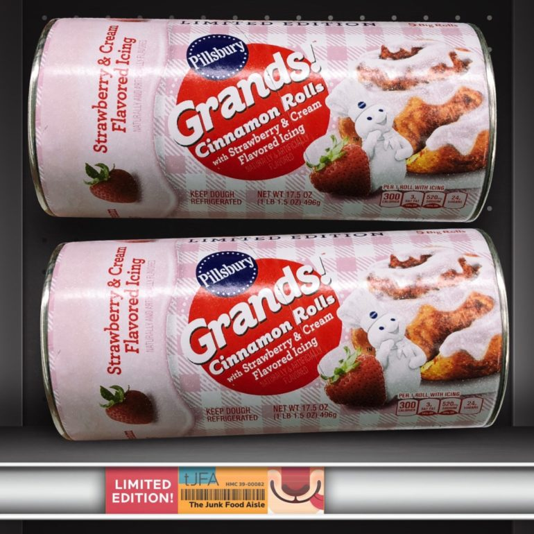 Pillsbury Grands! Cinnamon Rolls with Strawberry & Cream Icing