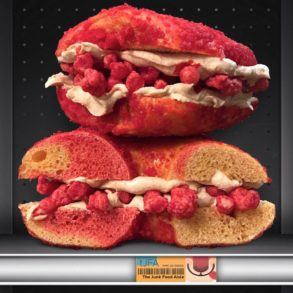 The Bagel Nook Overloaded Cheetos Flamin' Hot Bagel