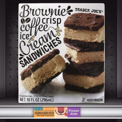 Trader Joe's Brownie Crisp Coffee Ice Cream Sandwiches