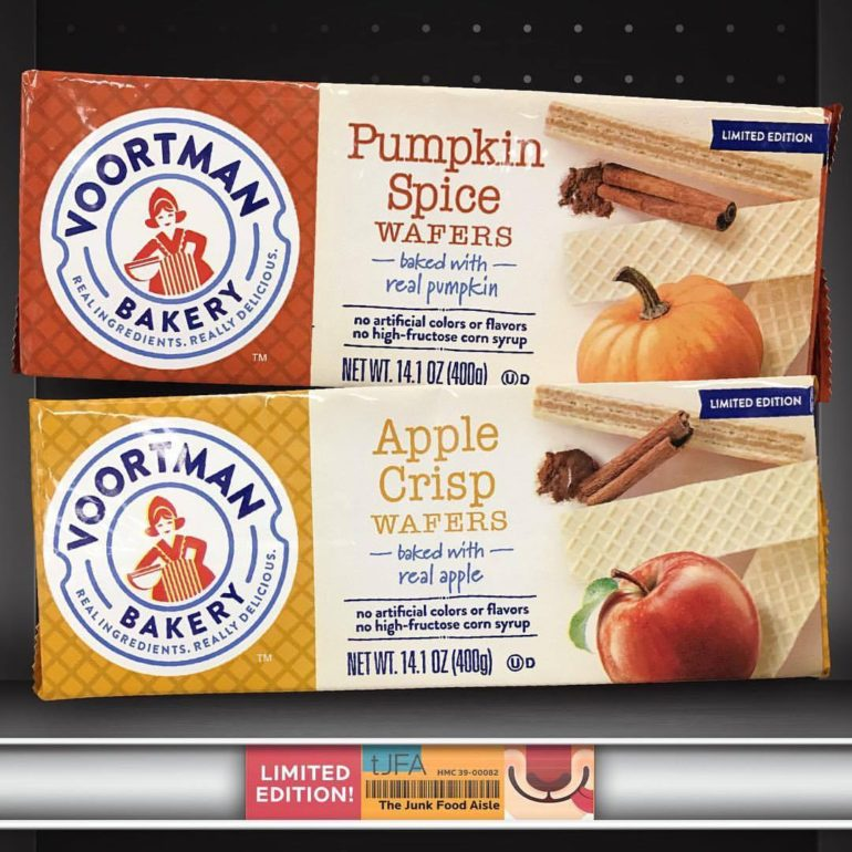 Voortman Bakery Pumpkin Spice and Apple Crisp Wafers